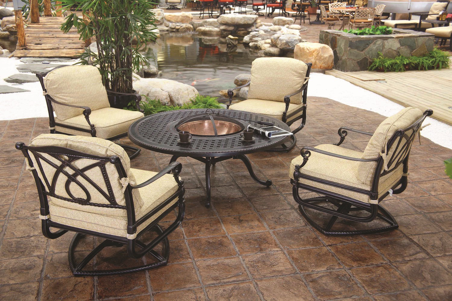 Grand Terrace Wood Fire Pit Location